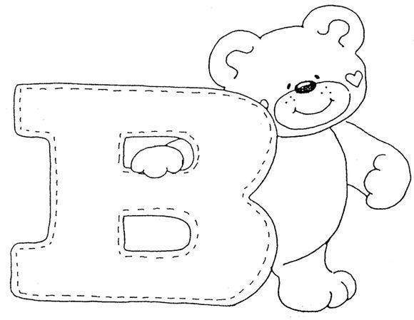 Letra B Dibujos Para Colorear - Dibujos Para Pintar