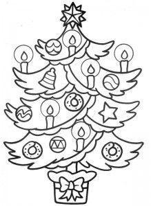 dibujo para colorear arbol de Navidad