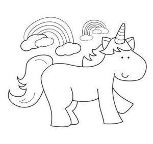 unicornios colorear