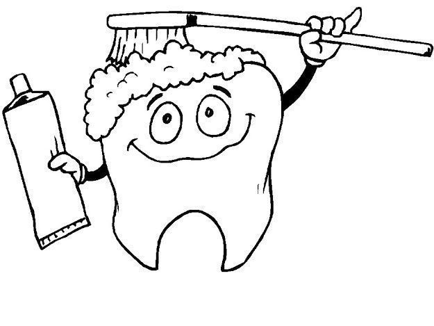 Printable Tooth Coloring Pages