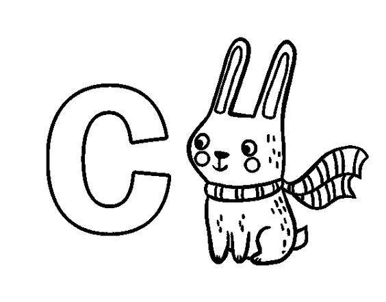 Dibujos Infantiles Con La Letra C Para Colorear
