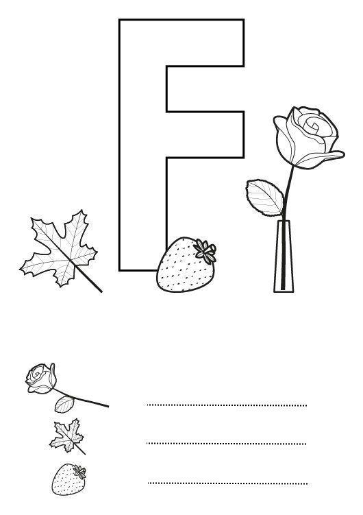 Dibujos Infantiles Para Colorear Con La Letra F