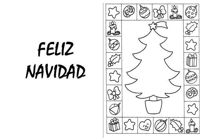 Felicitación De Navidad 008 Copia Colorear Y Aprender