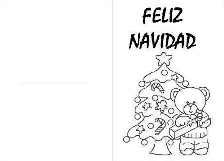 Felicitaciones De Navidad Para Colorear