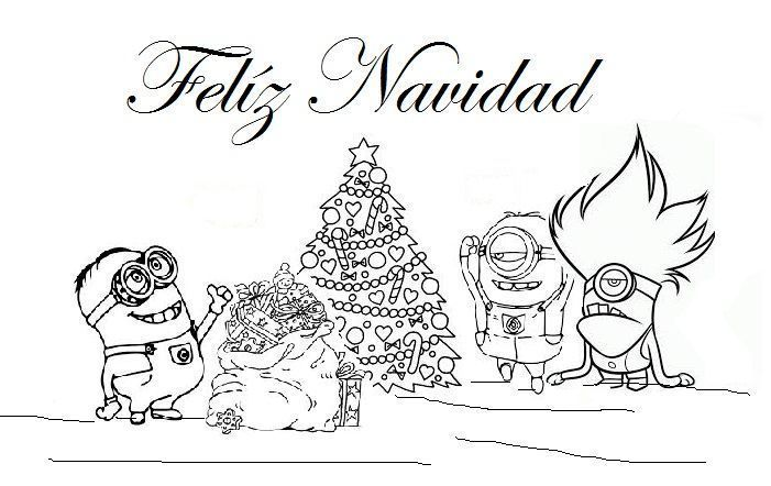 Colorear Los Minions En Navidad Minions En Navidad